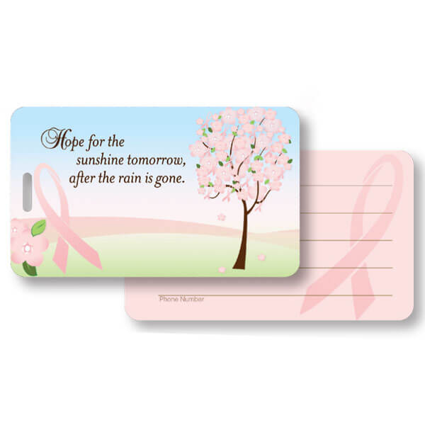 Blossoming Hope Luggage Tag Pouch with ID Side and Slot
