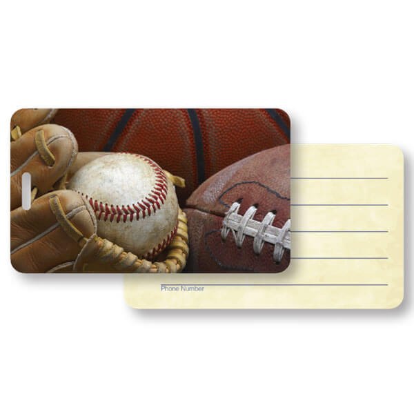 Sports Lover Luggage Tag Pouch with ID Side and Slot