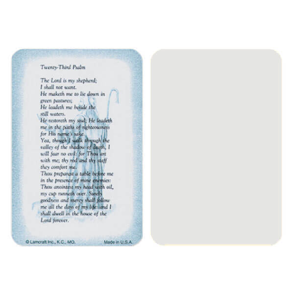 "2-5/8"" x 4"" Grey 23rd Psalm Pocket, 23rd Psalm"