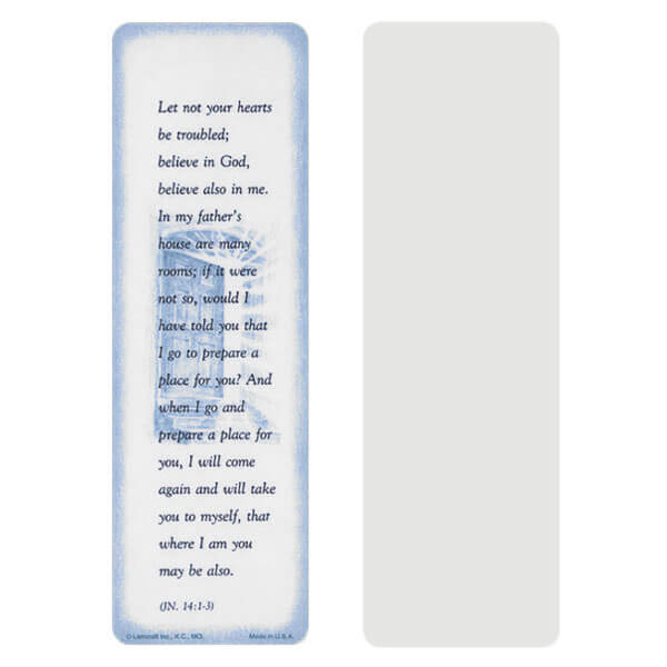 "2-5/8"" x 8"" Grey John 14:1-3 bookmark, John 14:1-3"