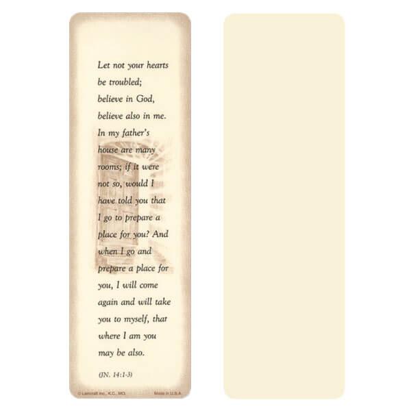 "2-5/8"" x 8"" Ivory John 14:1-3 bookmark, John 14:1-3"