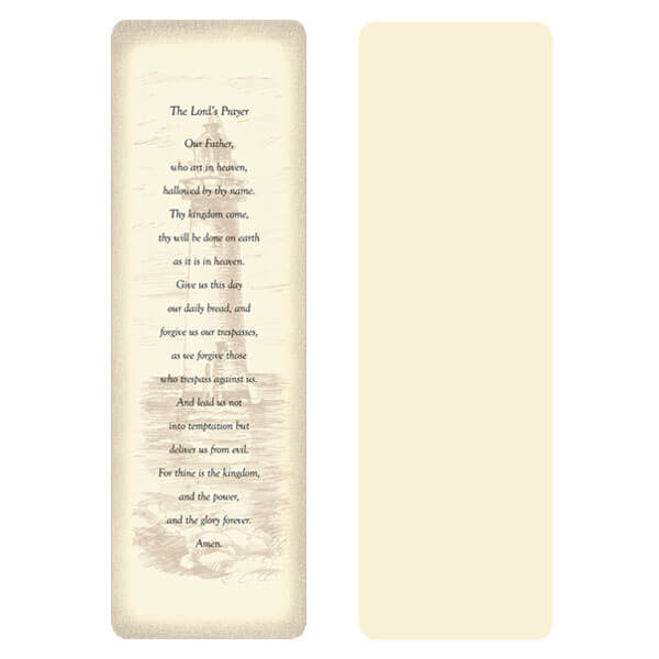 "2-5/8"" x 8"" Ivory Lighthouse Memorial Bookmark, The Lord's Prayer"