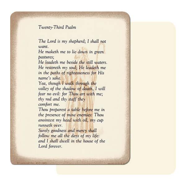 "4"" x 5"" Ivory 23rd Psalm Mini-Album, 23rd Psalm"