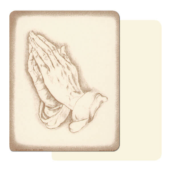 "4"" x 5"" Ivory Praying Hands Mini-Album, No Verse"