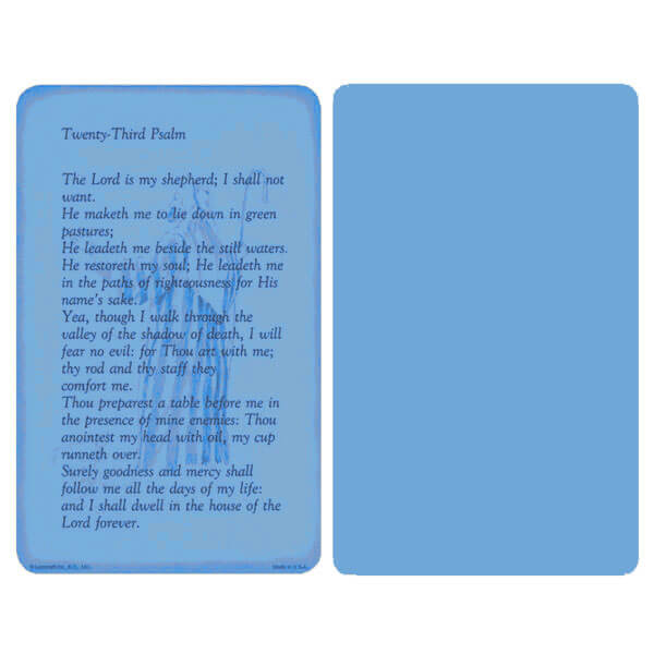"5"" x 8"" Blue 23rd Psalm Album, 23rd Psalm"