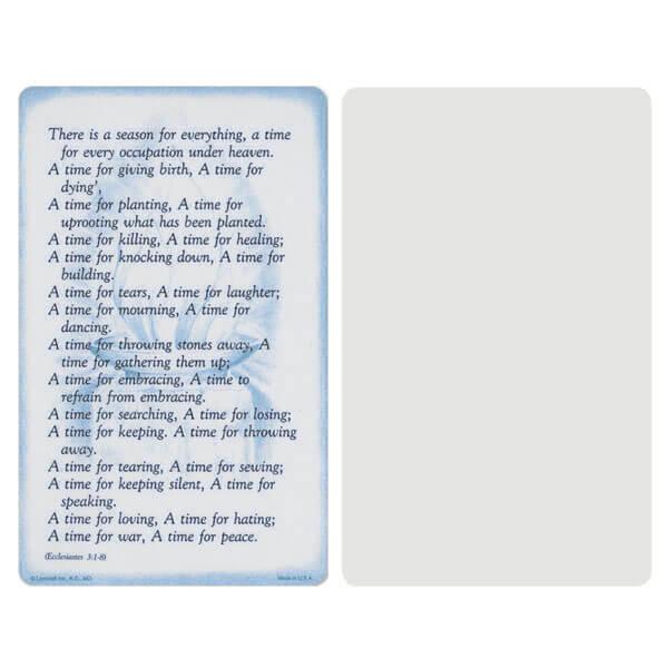 """5"""" x 8"""" Grey Ecclesiastes Album, Ecclesiastes 3:1-8"""