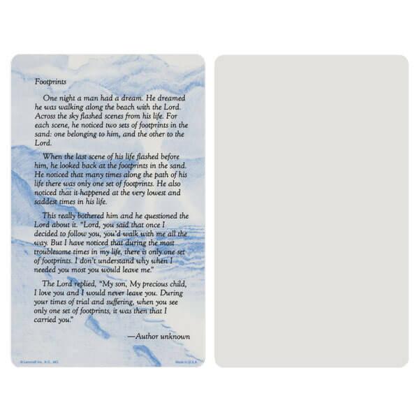 "5"" x 8"" Grey Footprints Album, Footprints verse"