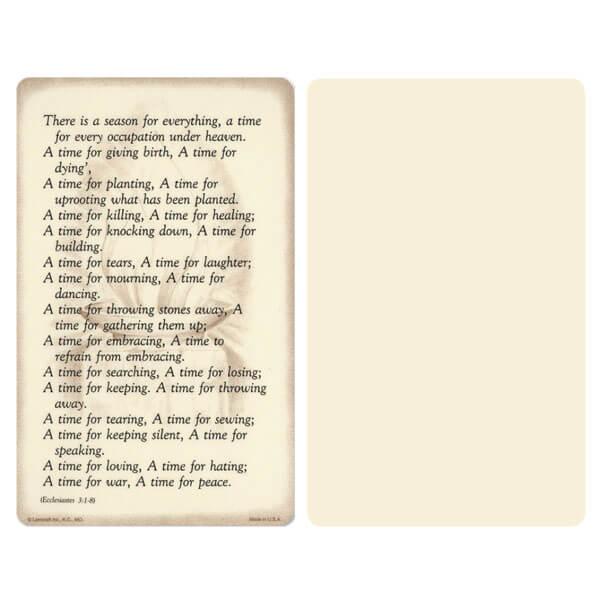 "5"" x 8"" Ivory Ecclesiastes Album, Ecclesiastes 3:1-8"
