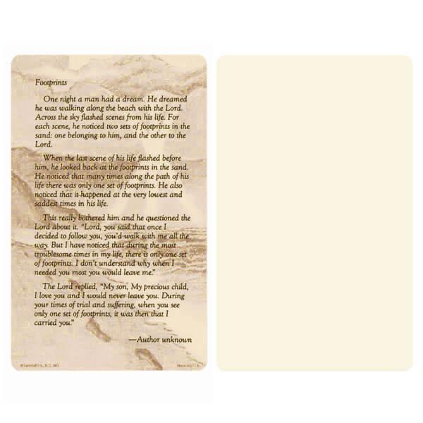 "5"" x 8"" Ivory Footprints Album, Footprints verse"
