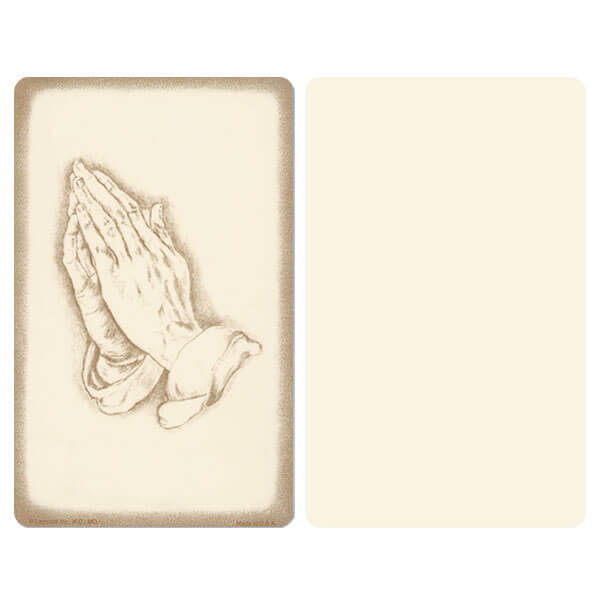 "5"" x 8"" Ivory Praying Hands Album, No Verse"