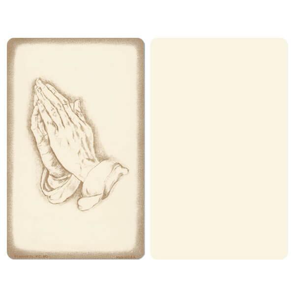 "5"" x 8"" Ivory Praying Hands Album, No Verse"