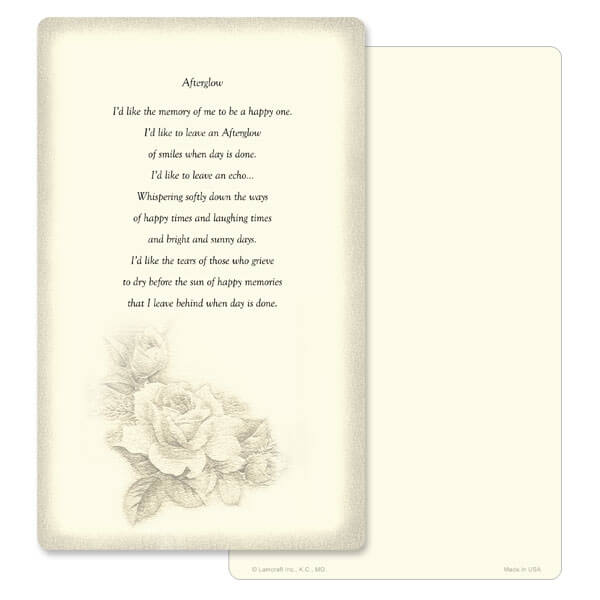 "5"" x 8"" Ivory Rose Bouquet Memorial Album, Afterglow"