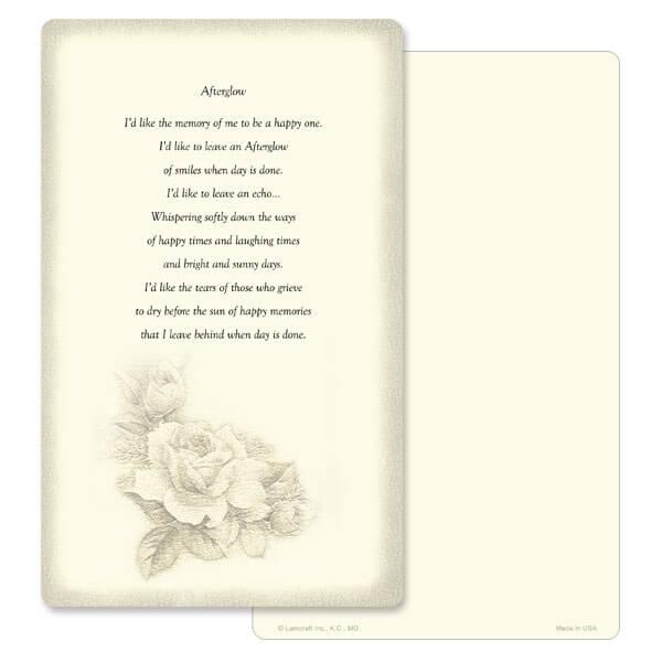 "5"" x 8"" Ivory Rose Bouquet Memorial Album, Afterglow"