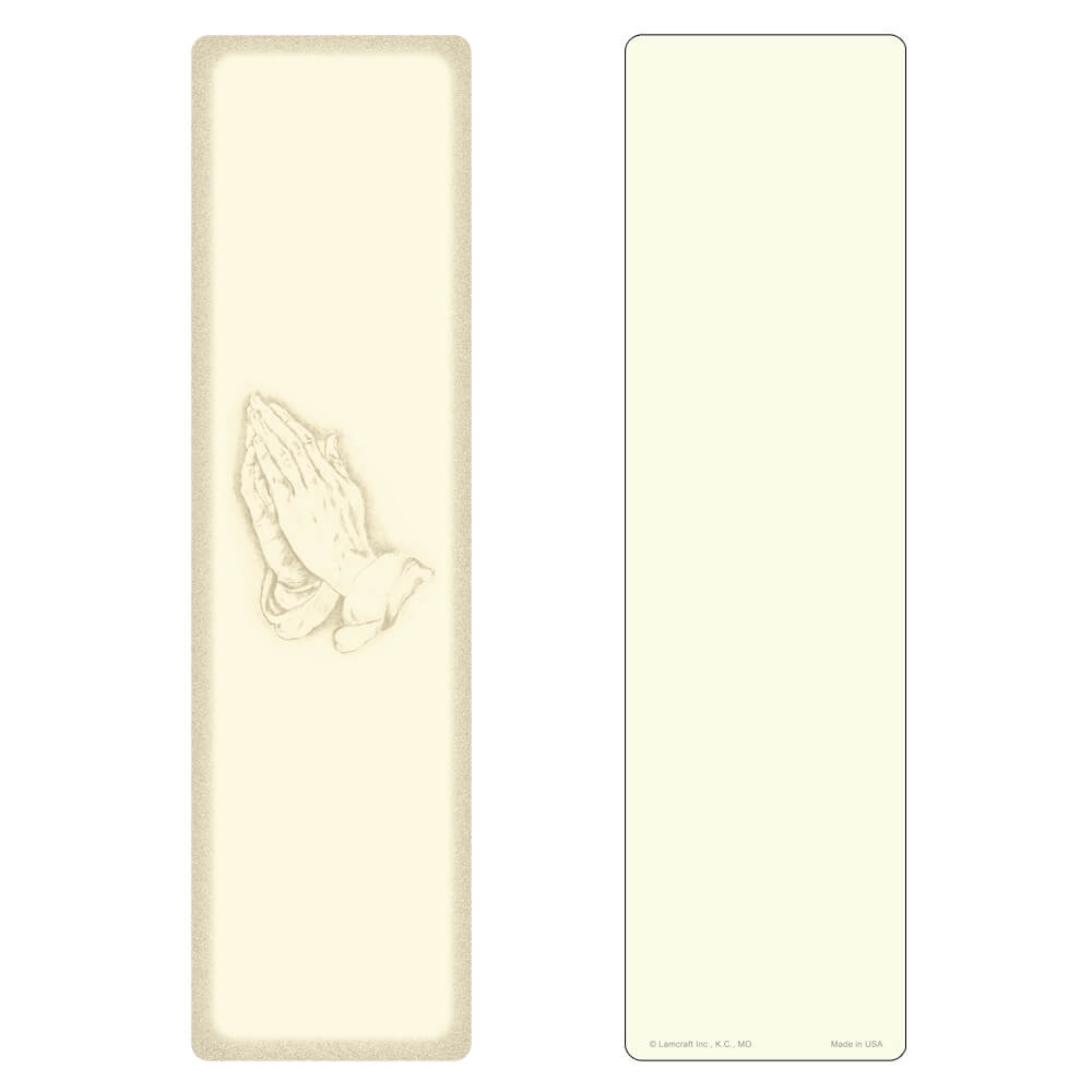 "3"" x 11"" Ivory Praying Hands Large Bookmark, No Verse"