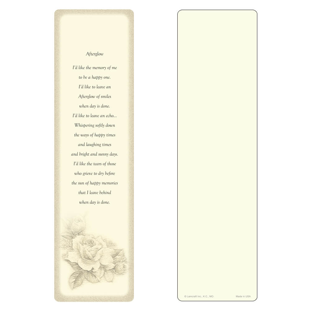 "3"" x 11"" Ivory Rose Bouquet Large Bookmark, Afterglow"