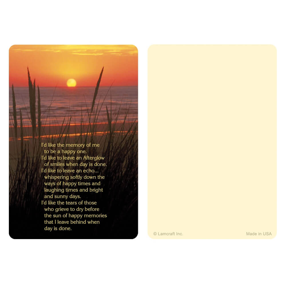 "3"" x 4-1/2"" Sea Oats PMC Pocket, Afterglow"