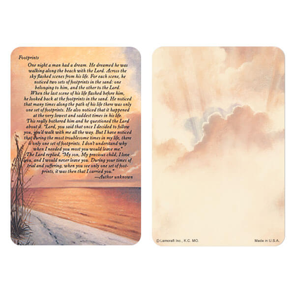 "3"" x 4-1/2"" Footprints PMC Pocket, Footprints verse"