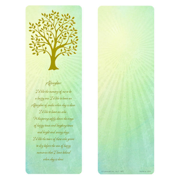 "3"" x 9"" Radiant Tree of LIfe bookmark, Afterglow"
