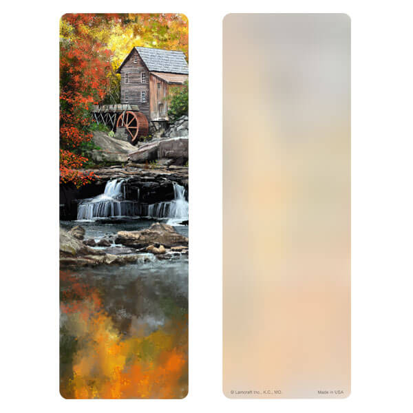 "3"" x 9"" Autumn Mill bookmark, No Verse"