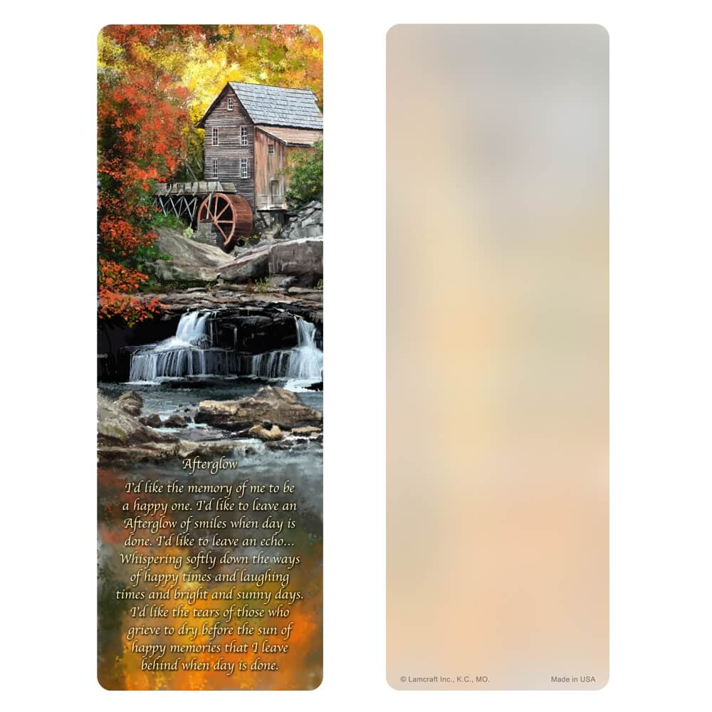 "3"" x 9"" Autumn Mill bookmark, Afterglow"