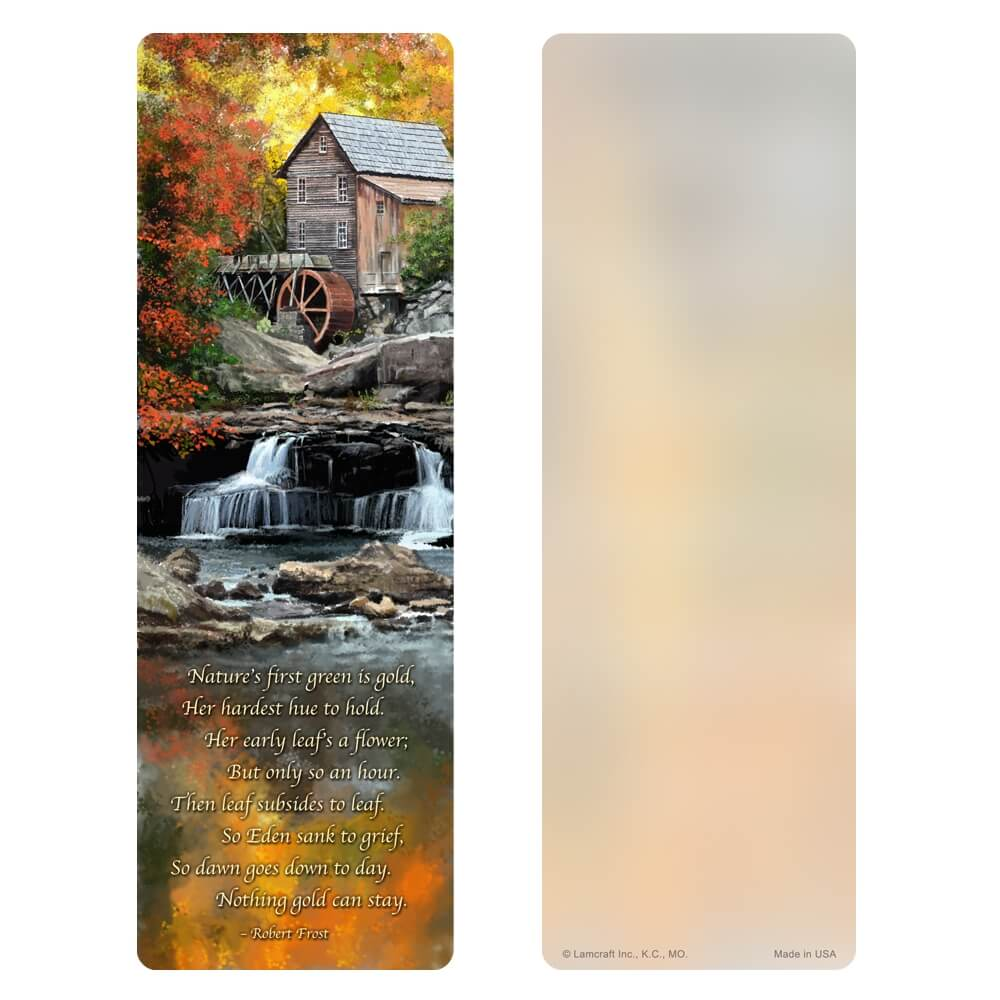 "3"" x 9"" Autumn Mill PMC, Nothing Gold Can Stay"