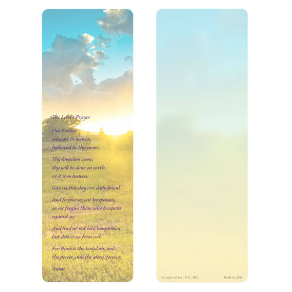 "3"" x 9"" Summer Field bookmark, The Lord's Prayer"