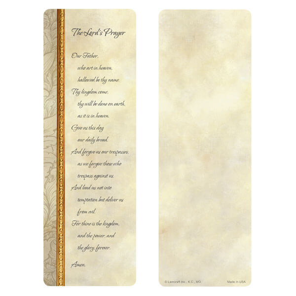 "3"" x 9"" Antique Border bookmark, The Lord's Prayer"