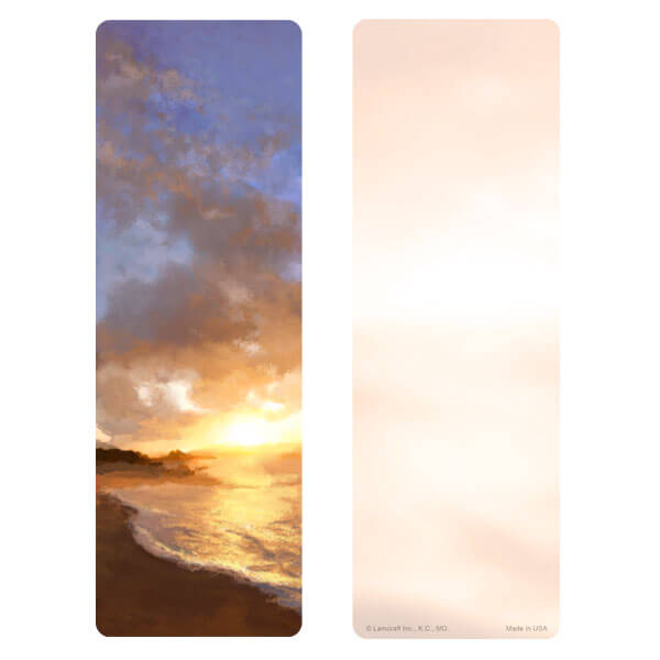 "3"" x 9"" Sunset Beach bookmark, No Verse"