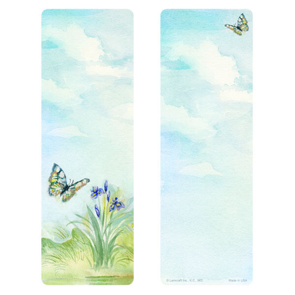 "3"" x 9"" Watercolor Butterfly bookmark, No Verse"
