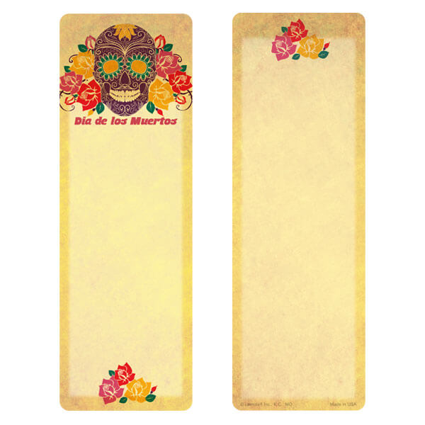 "3"" x 9"" Day of the Dead (Dia de los Muertos) bookmark, No Verse"