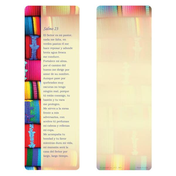 """3"""" x 9"""" Serape Border bookmark, Salmo 23"""