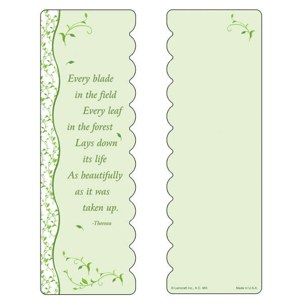 "3"" x 9"" Every Leaf bookmark, Every Blade, Every Leaf"