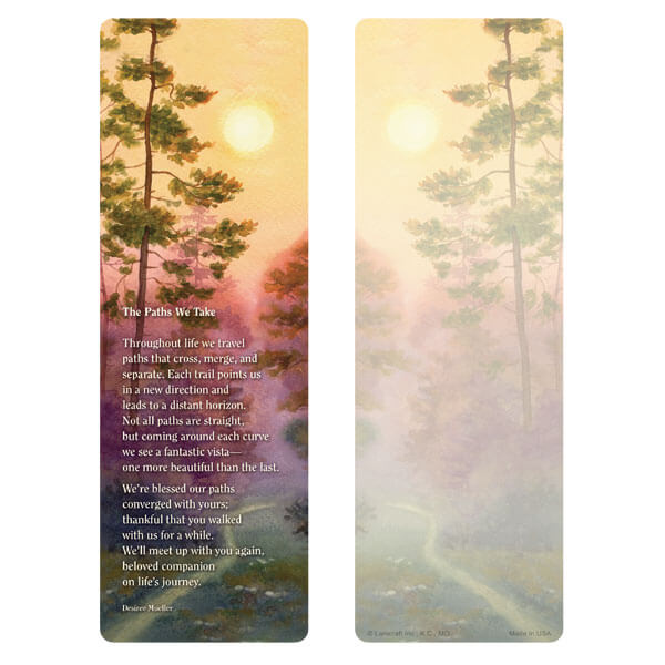"3"" x 9"" Forest Path bookmark, The Paths We Take"