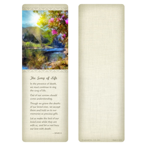 """3"""" x 9"""" New Day bookmark, Song of Life"""