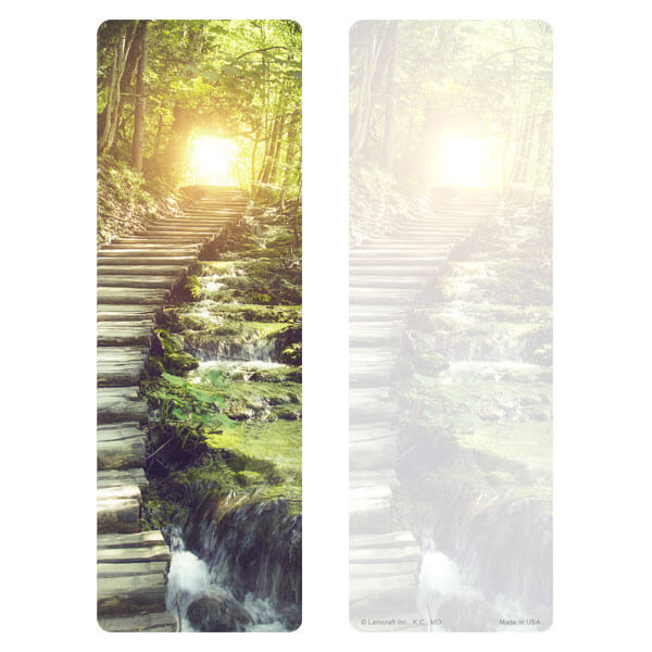"3"" x 9"" Stairs of LIght Premium Memorial Bookmark, No Verse"