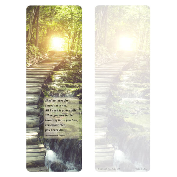 "3"" x 9"" Stairs of Light bookmark, Shed No Tears"