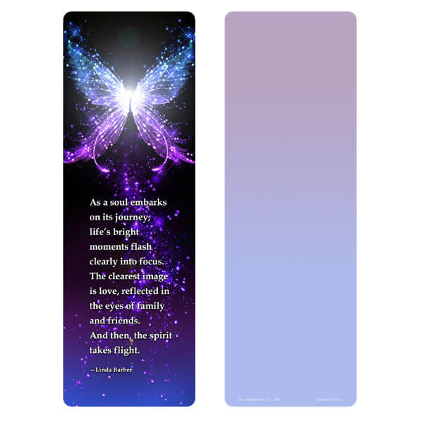 "3"" x 9"" Butterfly of Light bookmark, Soul's Journey"