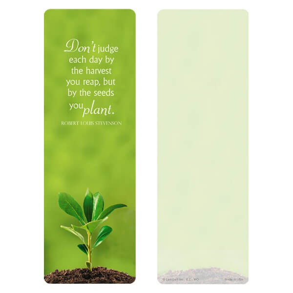 "3"" x 9"" Growth bookmark, Seeds You Plant"
