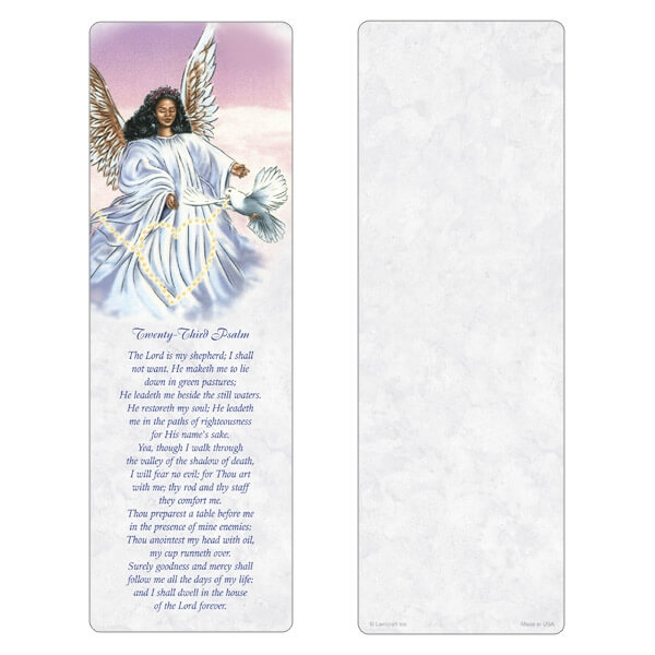 "3"" x 9"" Angel With Dove PMC, 23rd Psalm"