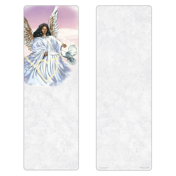 """3"""" x 9"""" Angel With Dove PMC, No Verse"""