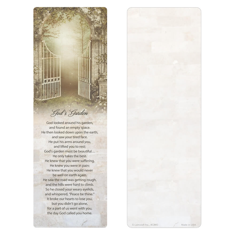 "3"" x 9"" Welcoming Gate PMC, God's Garden verse"