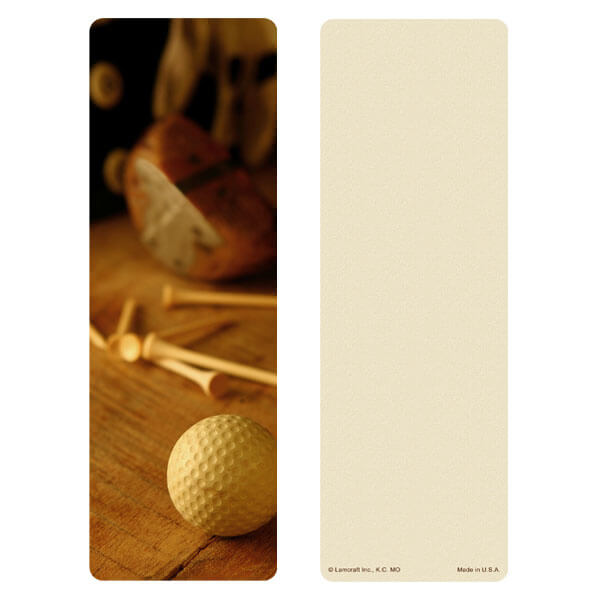 "3"" x 9"" Golf, Full Image bookmark, No Verse"