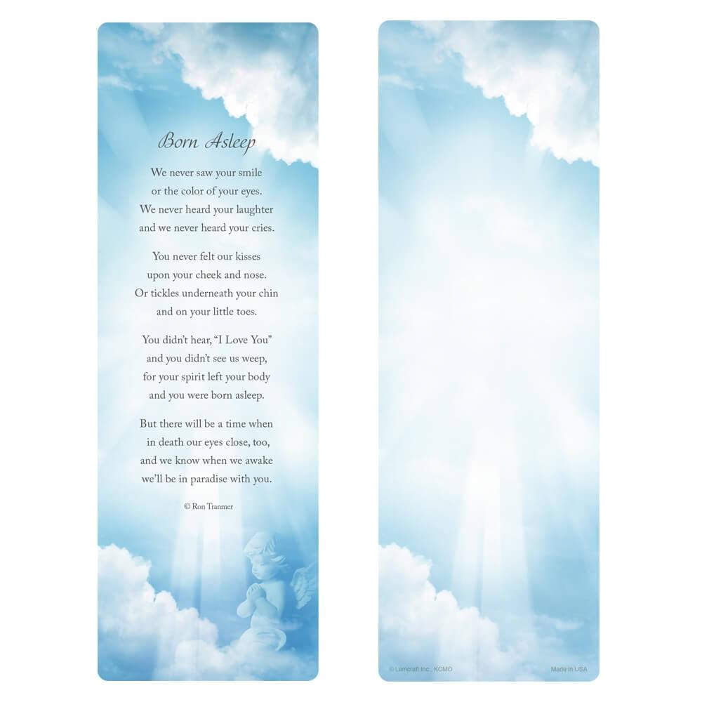 "3"" x 9"" Sweet Angel PMC, Born Asleep verse"