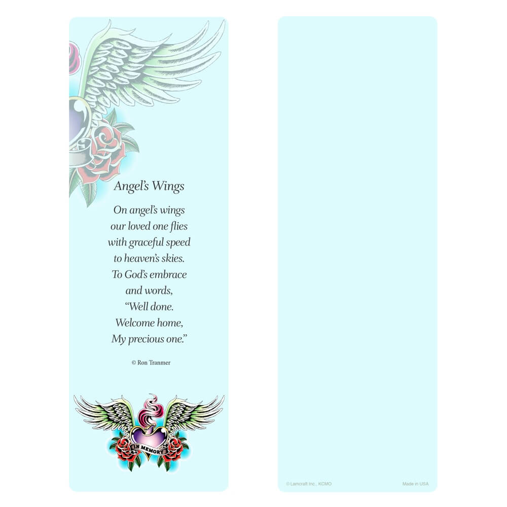 "3"" x 9"" Tattoo Wings PMC, Angel Wings verse"