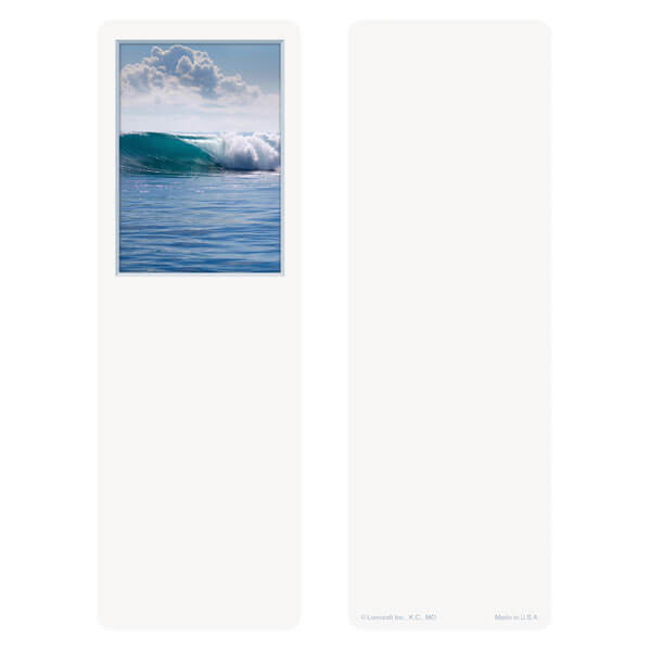 "3"" x 9"" Tranquil Ocean bookmark, No Verse"