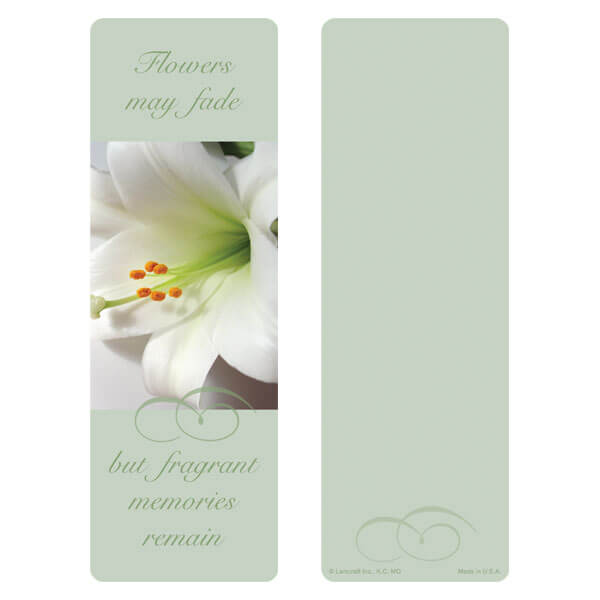 "3"" x 9"" Lily bookmark, Fragrant Memories"