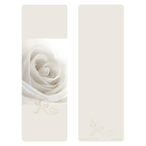 "3"" x 9"" White Rose bookmark, No Verse"
