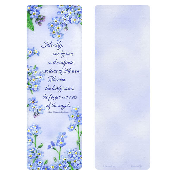 "3"" x 9"" Forget-Me-Not bookmark, Meadows of Heaven"