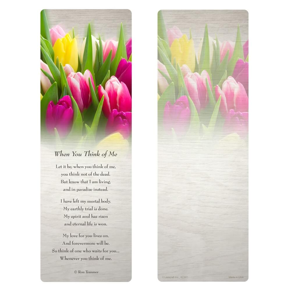 "3"" x 9"" Tulips PMC, When You Think of Me verse"