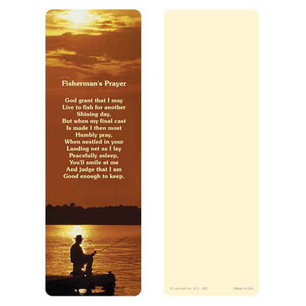 "3"" x 9"" Fisherman bookmark, Fisherman's Prayer"